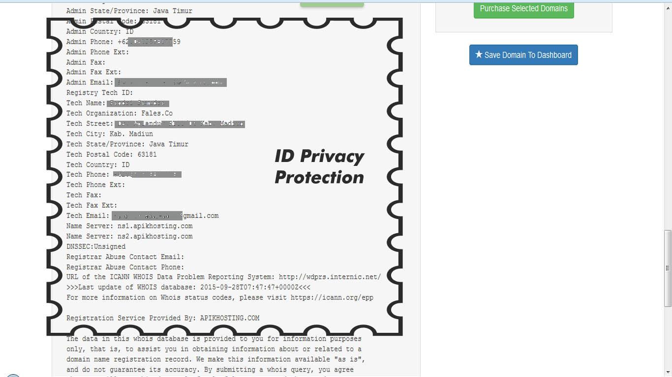 ID proteksi privacy apikhosting