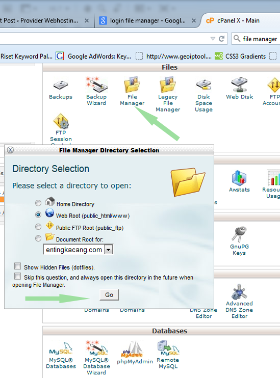 file manager  hosting apikhosting magetan