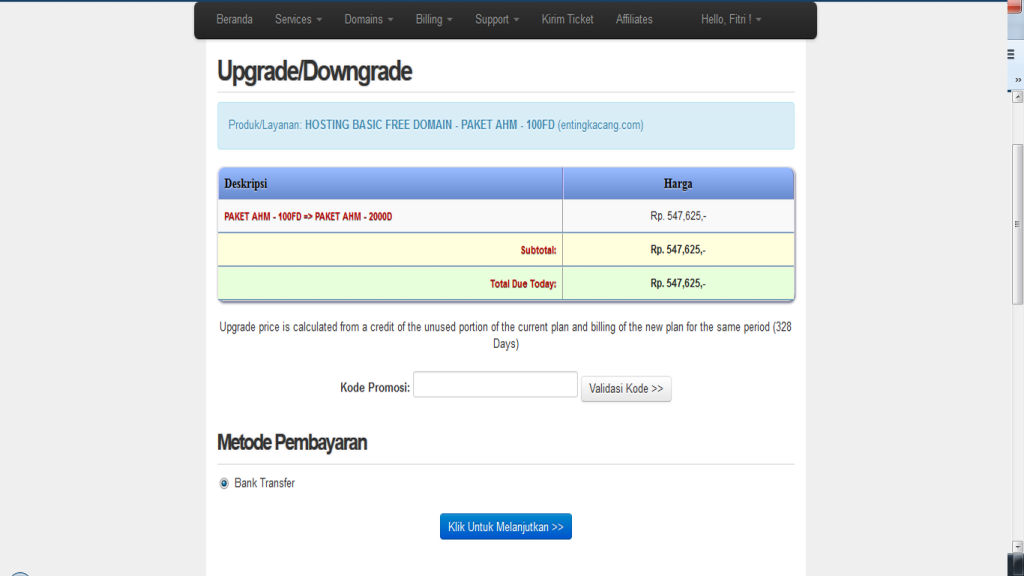 langkah upgrade hosting upgrade4 apikhosting