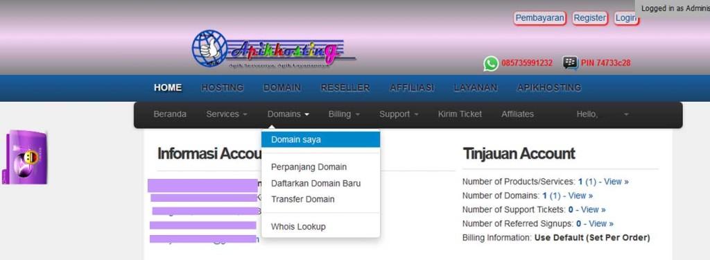 Letak Epp Kode domain di apikhosting